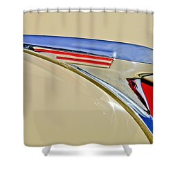 1940 Chevrolet Pickup Hood Ornament 2 Shower Curtain by Jill Reger