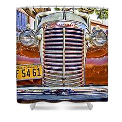 Shower Curtain featuring the photograph 1940 Chevy Sedan by Jason Abando