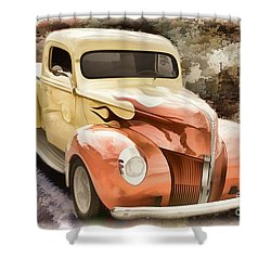 1940 Ford Pickup Truck Painting Car Or Automobile In Color  3133 Shower Curtain