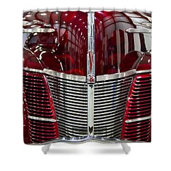 1940 Ford V8 Grill  Shower Curtain