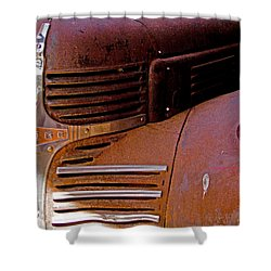 Shower Curtain featuring the digital art 1940 Rusted Dodge Truck by Marvin Blaine