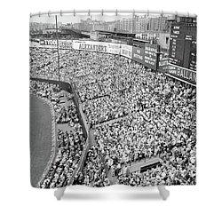 1940s 1950s Large Crowd Yankee Stadium Shower Curtain