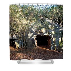 Shower Curtain featuring the photograph 1940's Barn by Pete Trenholm