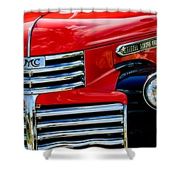 1942 Gmc  Pickup Truck Shower Curtain by Jill Reger