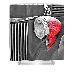 1944 Ford Pickup - Headlight - Sc Shower Curtain by Mary Carol Story