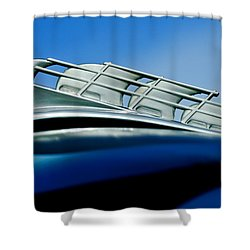 1946 Plymouth Hood Ornament Shower Curtain by Jill Reger