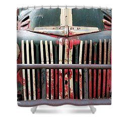 1946 Vintage Ford Truck Shower Curtain by Fiona Kennard