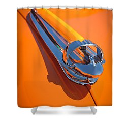 1947 Chevrolet Deluxe Hood Ornament Shower Curtain by Jill Reger