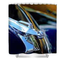 1947 Packard Hood Ornament 4 Shower Curtain by Jill Reger