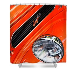 1948 Anglia 2-door Sedan Grille Emblem Shower Curtain by Jill Reger