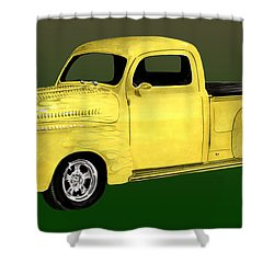 1948 Custom Ford Pick Up Shower Curtain by Jack Pumphrey
