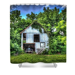 1948 Ford Shower Curtain by Ray Congrove
