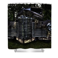1948 International Truck Shower Curtain by Thomas Young