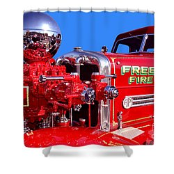 1949 Ahrens Fox Piston Pumper Fire Truck Shower Curtain