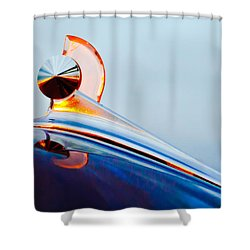 1949 Ford Hood Ornament 2 Shower Curtain by Jill Reger