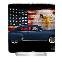 Shower Curtain featuring the photograph 1949 Pontiac Tribute Roger by Peter Piatt