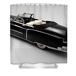 Shower Curtain featuring the photograph 1950 Black Cadillac Convertible by Gianfranco Weiss