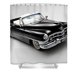 Shower Curtain featuring the photograph 1950 Cadillac Convertible by Gianfranco Weiss