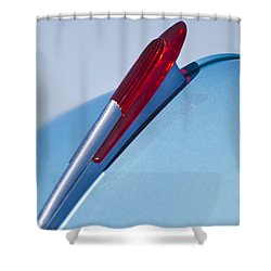 1950 Chevrolet Hood Ornament Shower Curtain by Jill Reger