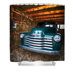 1950 Chevy Truck Shower Curtain by Debra and Dave Vanderlaan