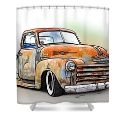 1950 Chevy Truck Shower Curtain