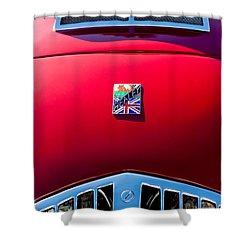 1950 Healey Silverston Sports Roadster Emblem Shower Curtain by Jill Reger