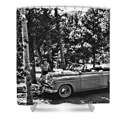 1950's Cadillac Shower Curtain