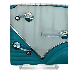 Shower Curtain featuring the photograph 1950's Chevy Interior by Dean Ferreira
