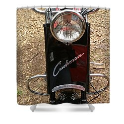 Shower Curtain featuring the photograph 1950's Cushman by Fortunate Findings Shirley Dickerson