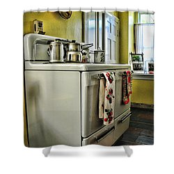 1950's Kitchen Stove Shower Curtain by Paul Ward
