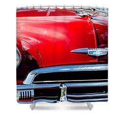 1951 Chevrolet Grille Emblem Shower Curtain by Jill Reger