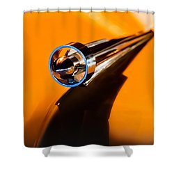 1951 Studebaker Pickup Truck Hood Ornament Shower Curtain by Jill Reger