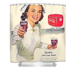 1952 - Coca-cola Advertisement - Color Shower Curtain
