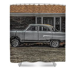 1952 Ford Shower Curtain by Ray Congrove