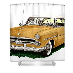 1952 Ford Victoria Shower Curtain by Jack Pumphrey