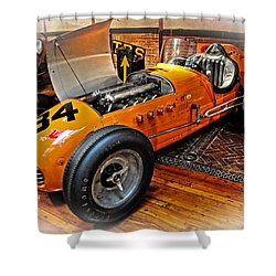 1952 Indy 500 Roadster Shower Curtain