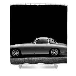 Shower Curtain featuring the photograph 1952 Mercedes 300 Sl  by Gianfranco Weiss