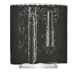 1953 Aerial Missile Patent Gray Shower Curtain by Nikki Marie Smith