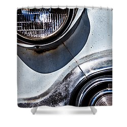 1953 Chevy Headlight Detail Shower Curtain