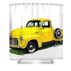 1953 G M C 5-window Pick-up Shower Curtain by Jack Pumphrey