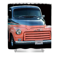 1953 Gmc Pick-up Shower Curtain by Davandra Cribbie