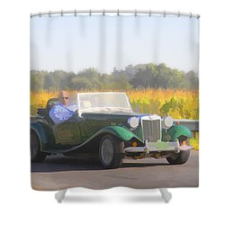 1953 Mg Td Shower Curtain