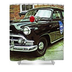 1953 Police Car Shower Curtain