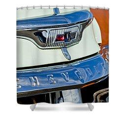 1954 Chevrolet Panel Truck Hood Emblem Shower Curtain by Jill Reger