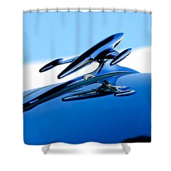 1954 Gmc 100 Pickup Hood Ornament Shower Curtain by Jill Reger
