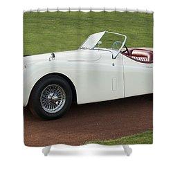 1954 Jaguar Xk120 Roadster  Shower Curtain by Jill Reger