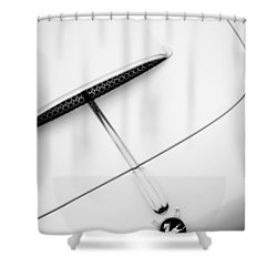 1954 Pegaso Z-102 Saoutchik Coupe Hood Emblem -0583bw Shower Curtain by Jill Reger