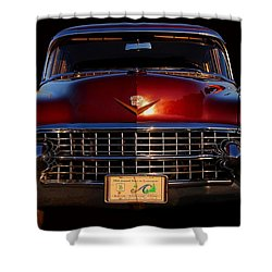 1955 Cadillac Series 62 Shower Curtain by Davandra Cribbie