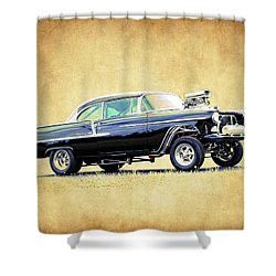 1955 Chevy Gasser Shower Curtain