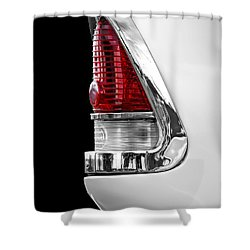 1955 Chevy Rear Light Detail Shower Curtain